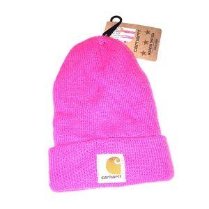 CARHARTT Toddler pink knit fold-over beanie